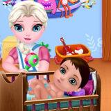 Игра День Защиты Детей Озорной Эльзы