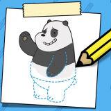 Игра Учимся Рисовать: Панда