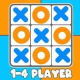 Игра Крестики Нолики: 1-4 Игрока
