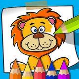 Игра Книжка-Раскраска для Детей: Раскраски Животных