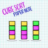 Игра Сортировка Кубиков: Бумажная Заметка