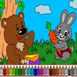 Игра Раскраска Мишка и Кролик