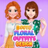 Игра Цветочный Дизайн Одежды