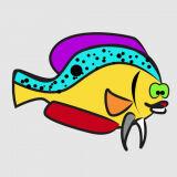 Игра Счастливые Цветные Рыбки
